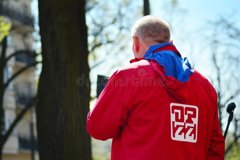 Jan Guz president of the OPZZ trade union royalty free stock images