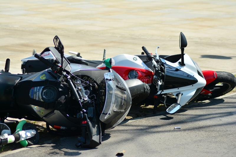 Accident Motorbike Stock Images - Download 1,002 Royalty Free Photos