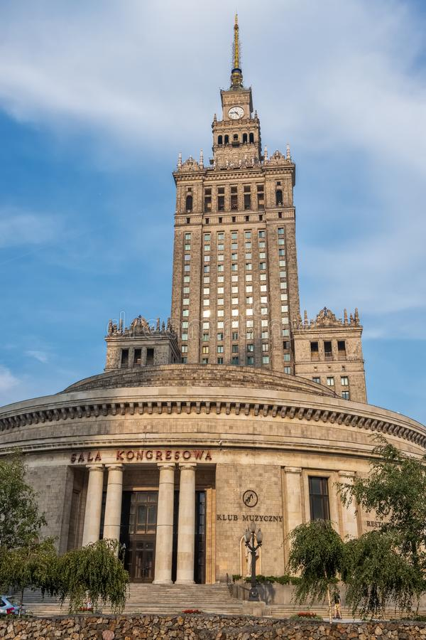The enormous Palace of Culture and Science in Warsaw, Poland royalty free stock photos