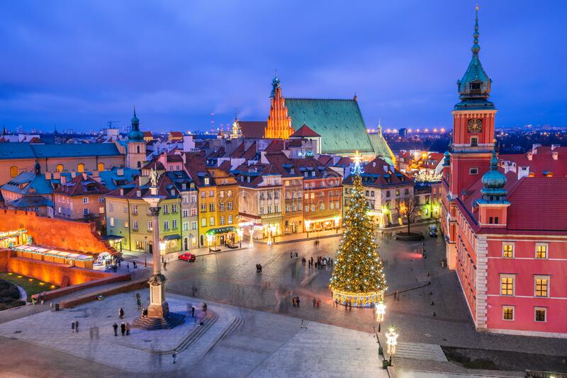 Warsaw, Poland - Castle Square royalty free stock image