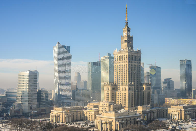 Warsaw, Poland. Cityscape / skyline view of Warsaw, Poland royalty free stock images