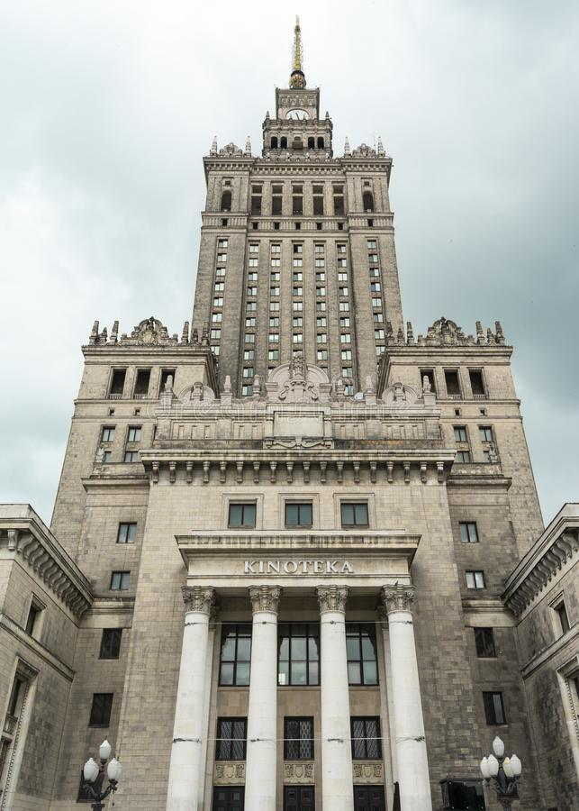 Warsaw, Poland/Europe; 11/07/2019: Palace of Culture and Science PKIN from below, Warsaw royalty free stock images