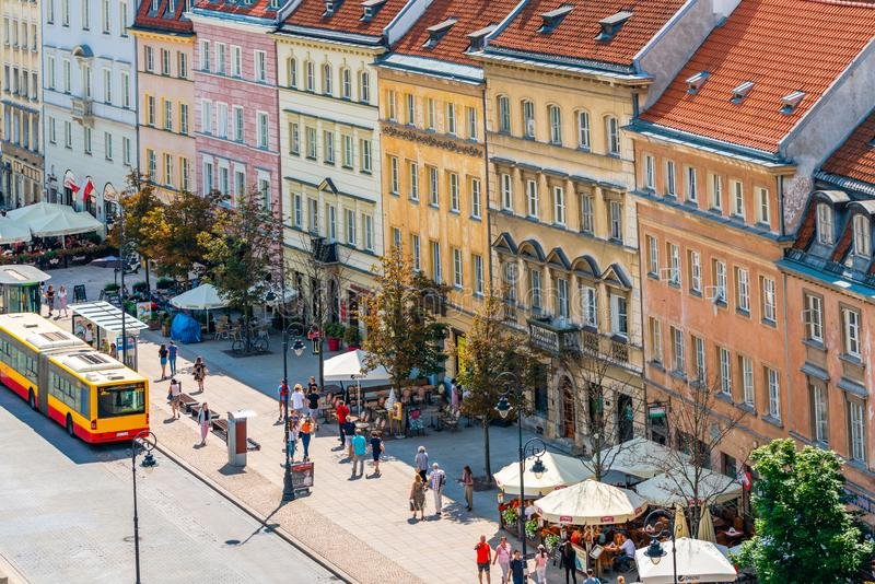 View of Nowy Świat Street, Warsaw, Poland royalty free stock images