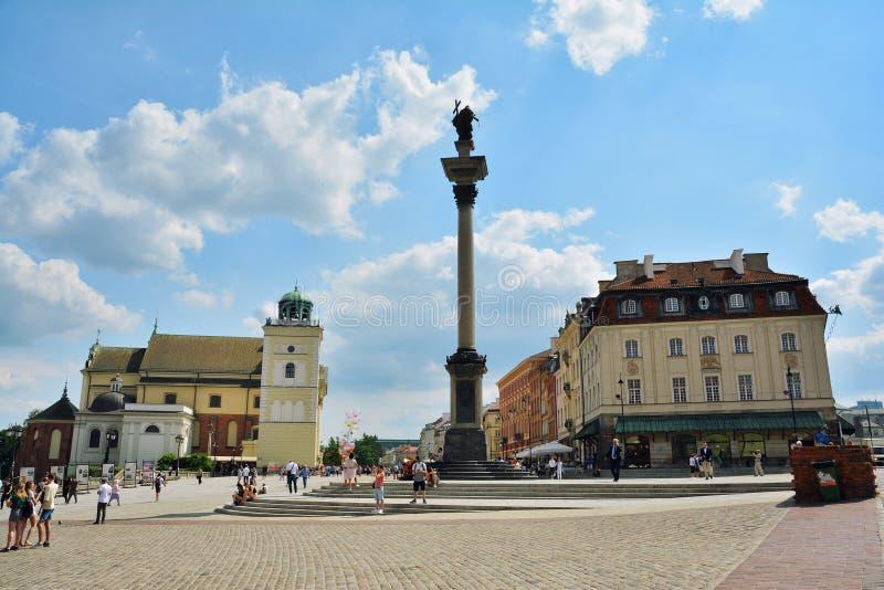 Old Town Stare Miasto of Warsaw stock photo