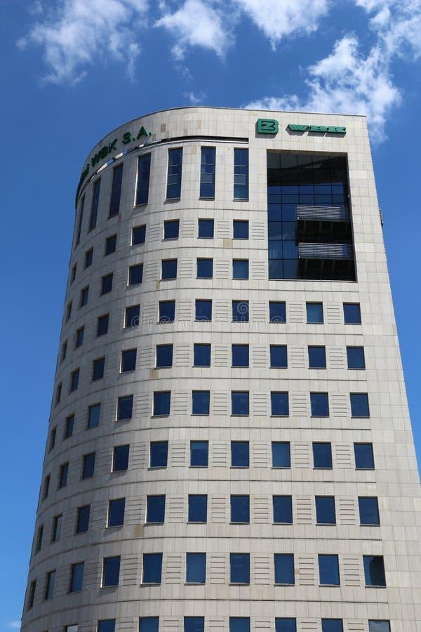 BZ WBK building, Warsaw royalty free stock photo