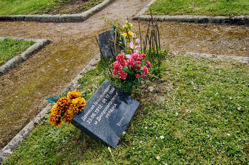 Warsaw, Poland - May 09, 2017: Soviet Military Cemetery in Victory Day - The anniversary of the signing of Nazi Germany's royalty free stock photo