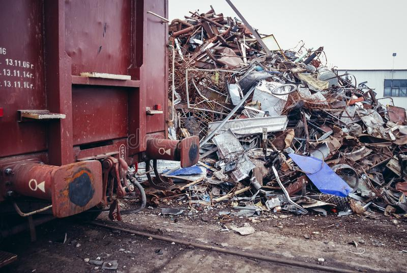 Metal Scrap Yard editorial photography  Image of nonferrous