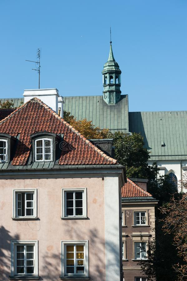 Warsaw Poland October 2014 City Center with East Europe and Modern Architecture royalty free stock photography
