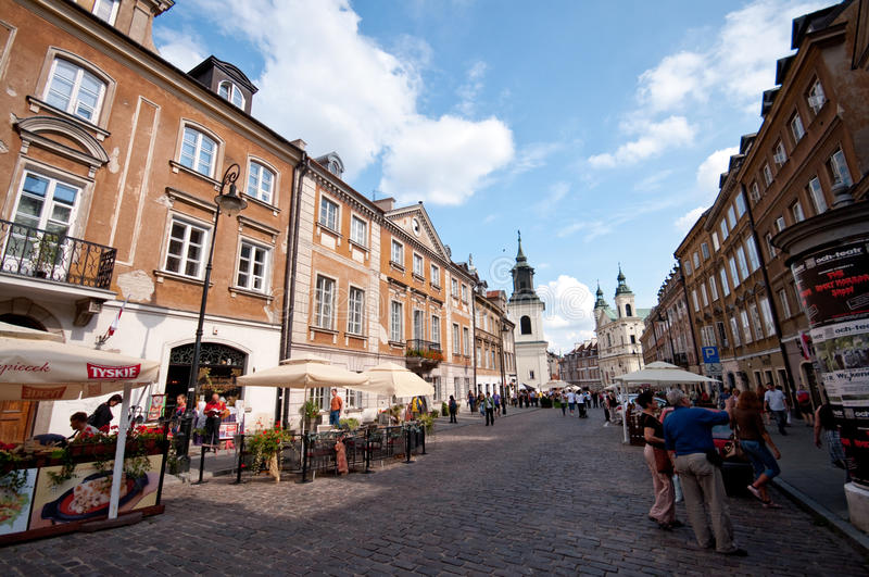 Warsaw Poland - old town stock images