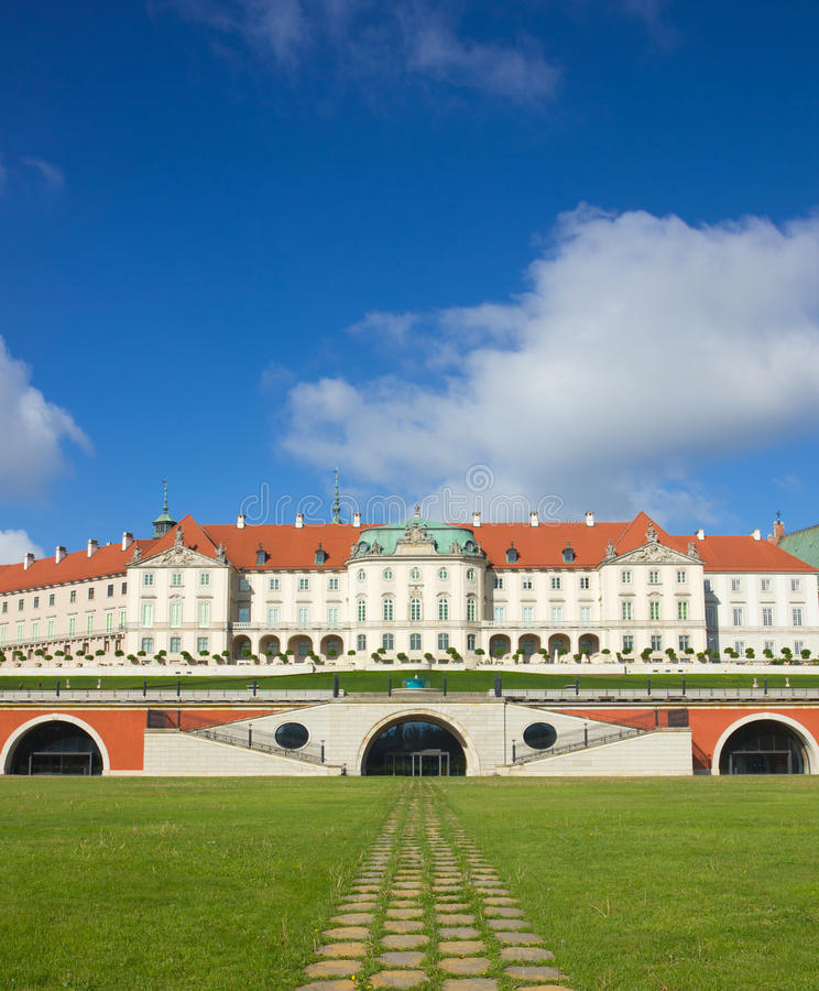 Free Warsaw, Poland. Old Town - Famous Royal Castle фfter Restauration. World Heritage Site. Stock Photo - 55082910