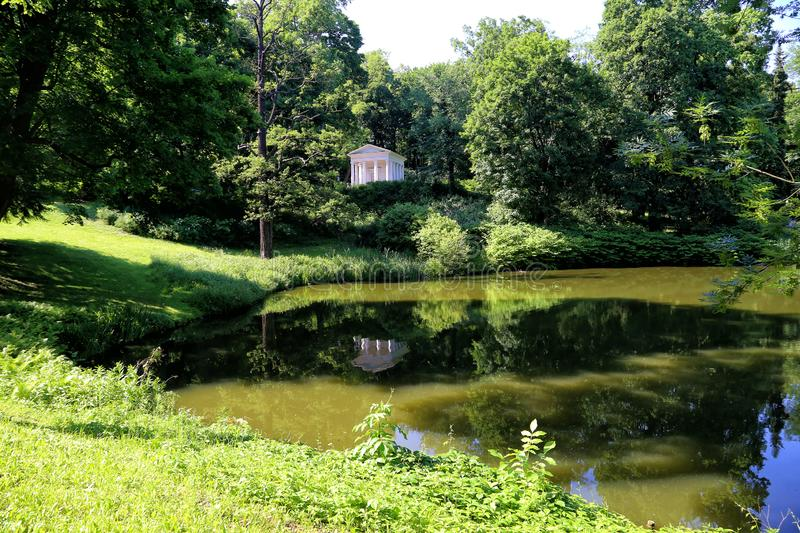 Pond in the Royal Lazienki Park royalty free stock photos