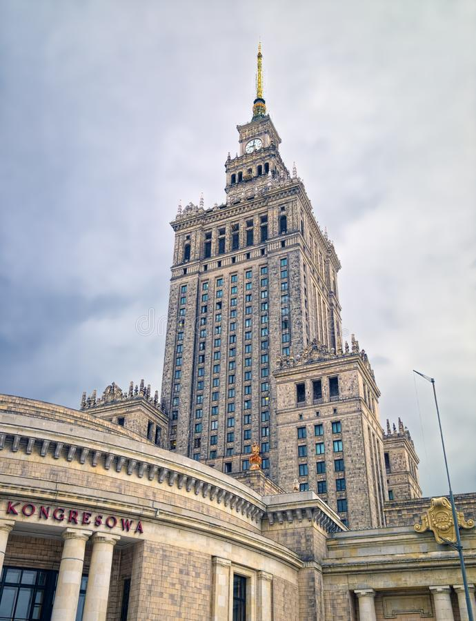Palace of Culture and Science, Warsaw, Poland royalty free stock photo