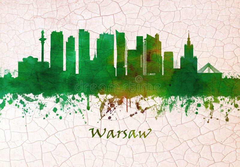 Warsaw Poland skyline royalty free illustration