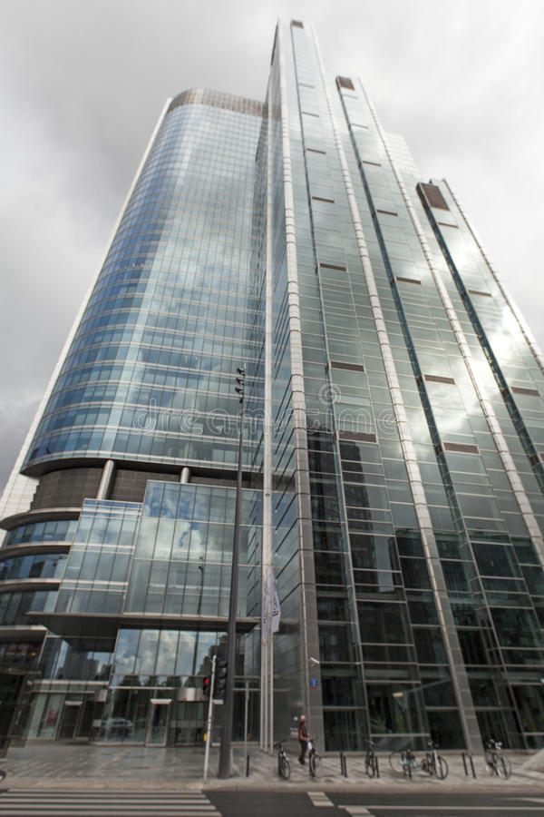 Warsaw, Poland . Skyscraper in the center of city. Warsaw, Poland. city center.rn september 27th, 2016 royalty free stock image
