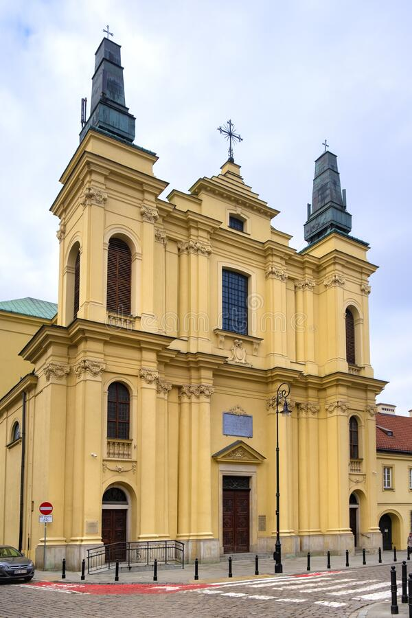 Free Warsaw, Poland - The Franciscans Friars Catholic Church Of St. Francis Seraphic Stigmata At Zakroczynska Street In The Historic Royalty Free Stock Images - 175581669