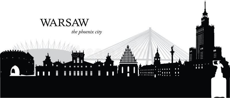 Warsaw, Poland vector illustration