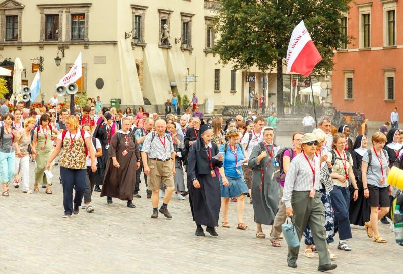 Download Warsaw Religijny Korowód Pielgrzymi Zdjęcie Stock Editorial - Obraz złożonej z warsaw, korowód: 57672073