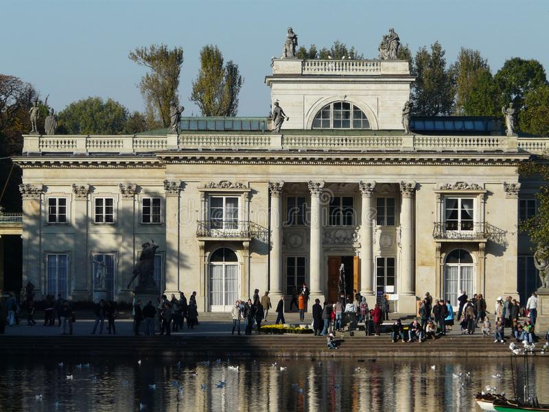 Royal Palace on the Water in Lazienki Park,Warsaw royalty free stock photography