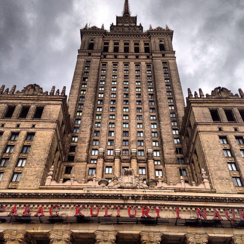 Warsaw skyscraper stock image