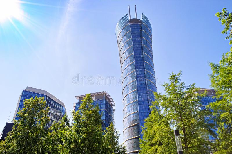 Warsaw Spire Glass Window Building Skyscraper royalty free stock image