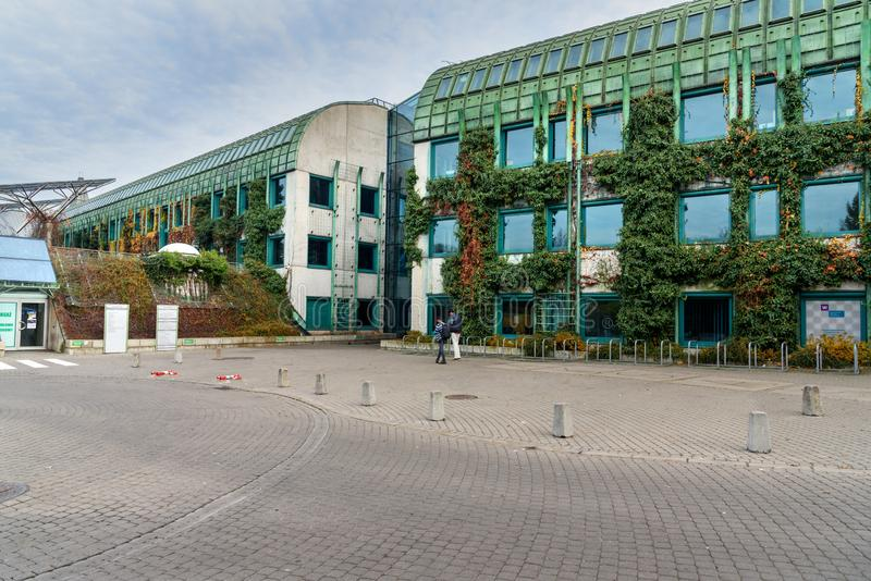 Warsaw University Library in autumn. Poland stock photo