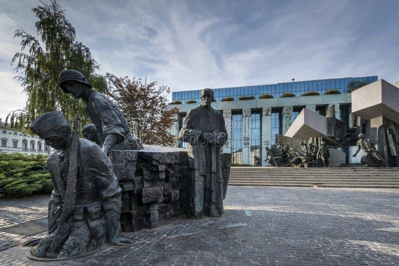 Warsaw Uprising Monument in Warsaw, Poland