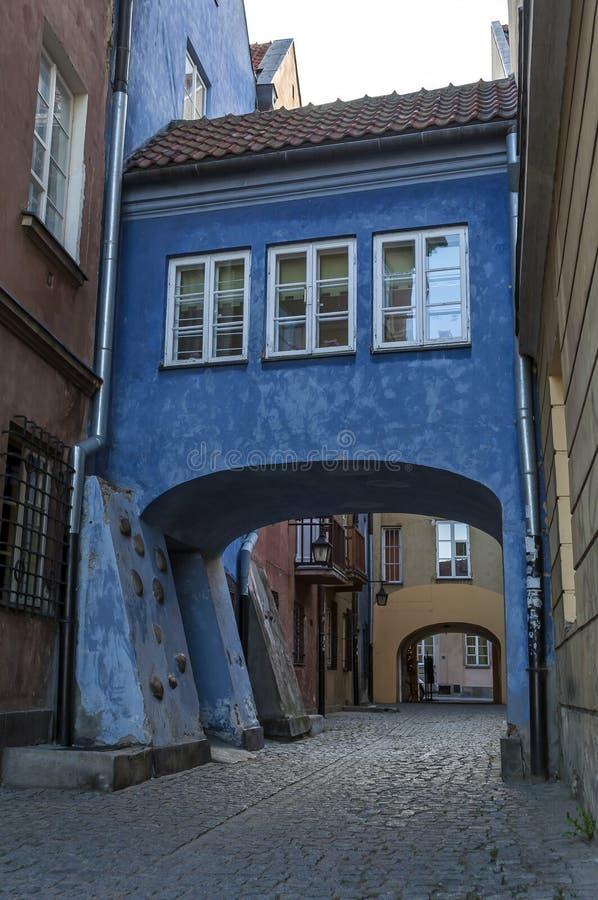 Warschau-alte Stadt stockbild