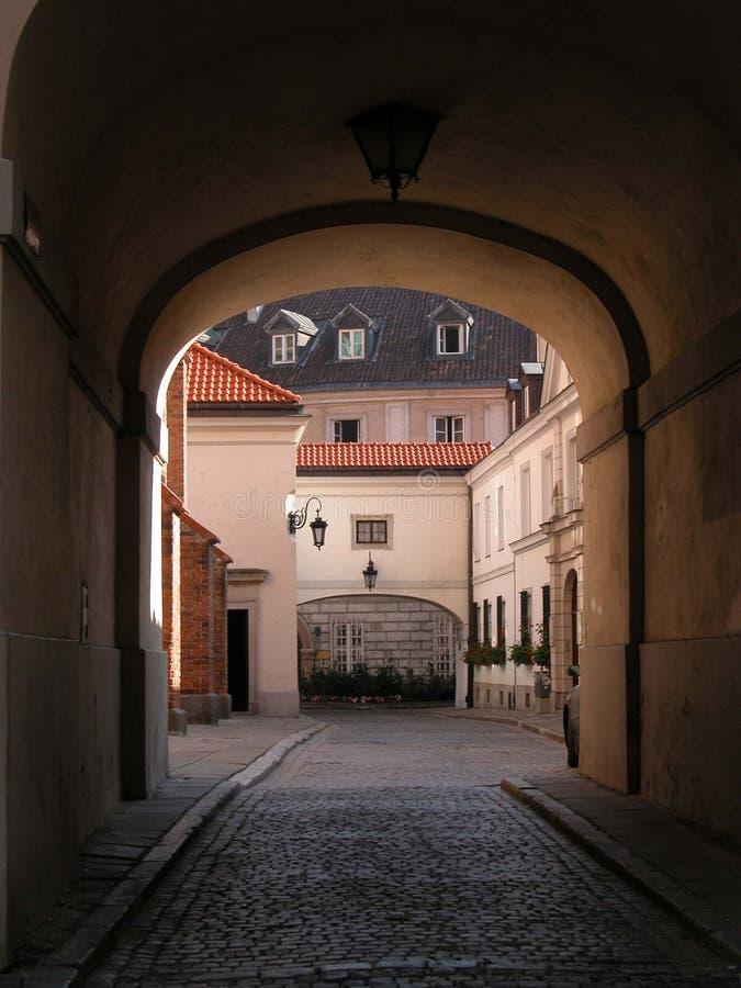 Warschau - alte Stadt - Kommunikationsrechner lizenzfreies stockfoto