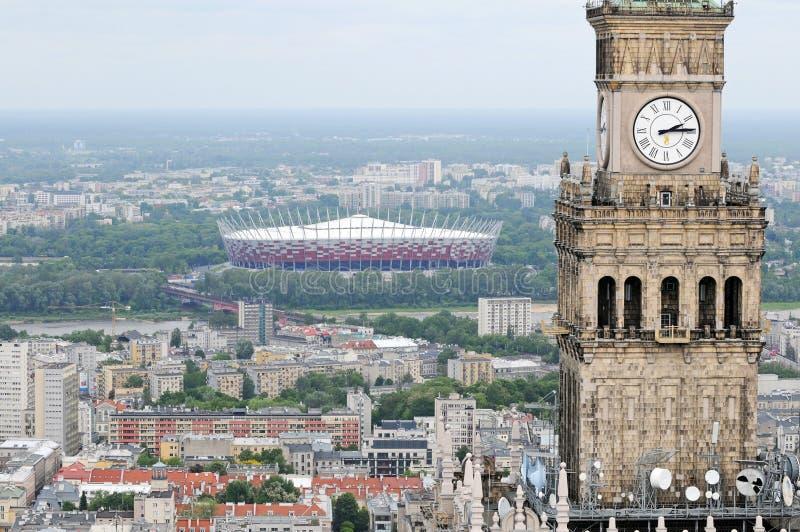 Warschau-Ansicht, Polen stockfoto
