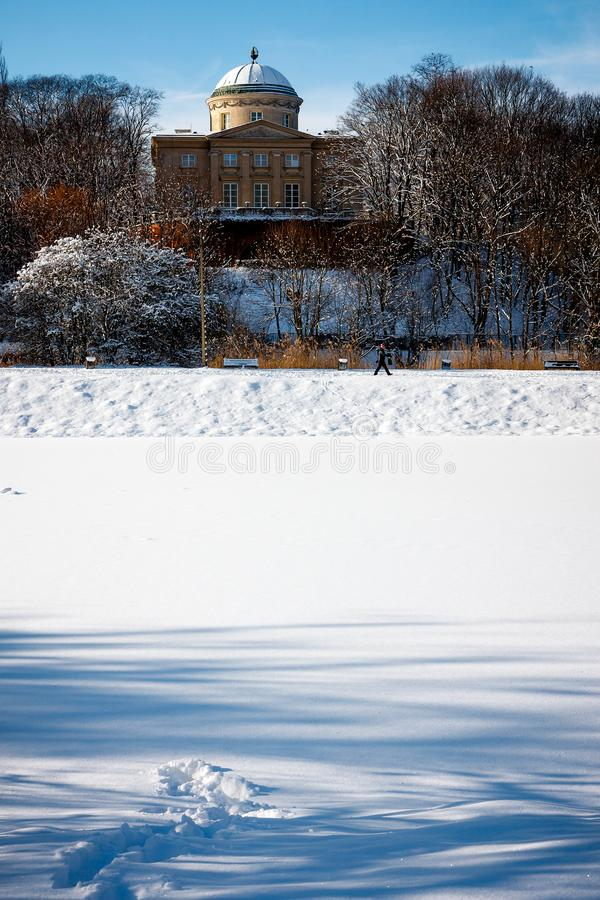 Warschau im Winter, Krolikarnia-Palast stockfoto