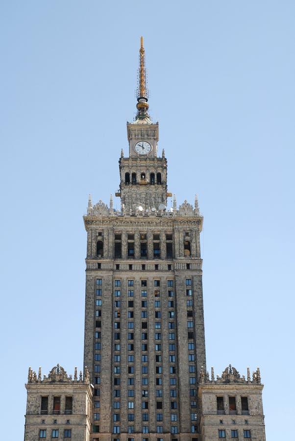 Warschau-Kultur und Wissenschaftspalast lizenzfreie stockfotos