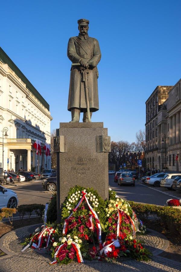 Warschau, Mazovia, Polen - Marshall Jozef Pilsudski beim Pilsud lizenzfreie stockfotografie