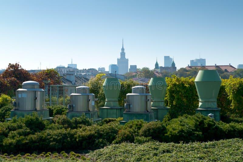 Warschau-Panorama stockbild