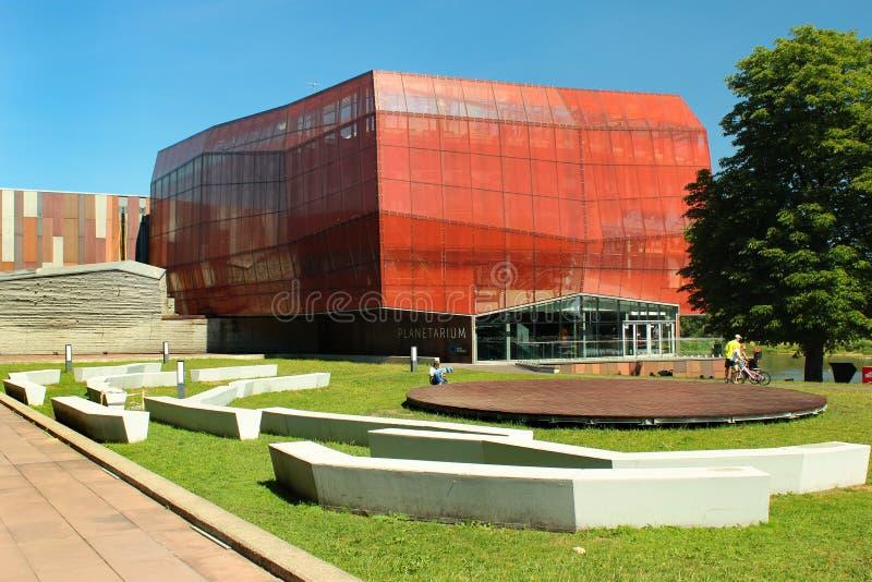 Warschau-Planetarium am Entdeckungs-Park in Warschau, Polen lizenzfreie stockfotografie
