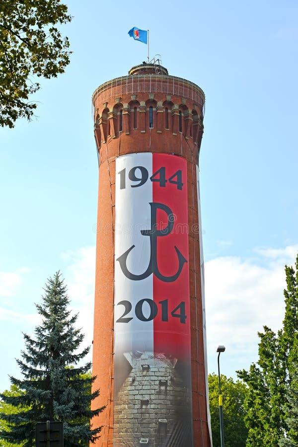 Warschau, Polen Alter Wasserturm der Filtrationsanlage von Lindley 1886 lizenzfreie stockfotos