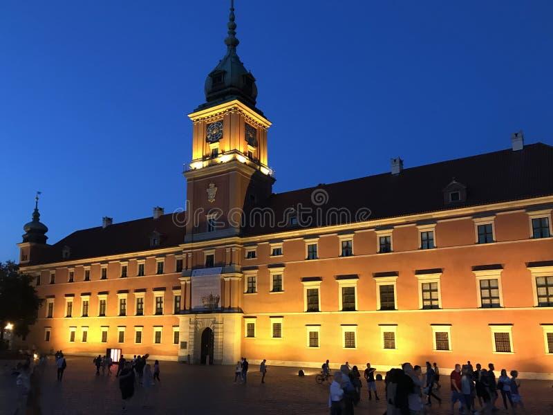 Warschau, Polen im Juli 2019 - das königliche Schloss nachts stockfoto