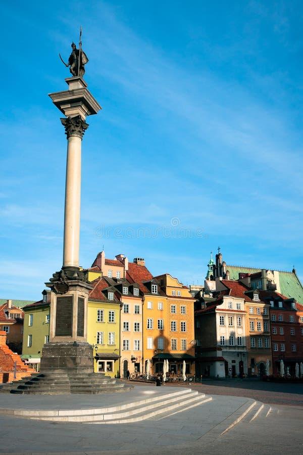Warschau - Schloss-Quadrat stockfotos
