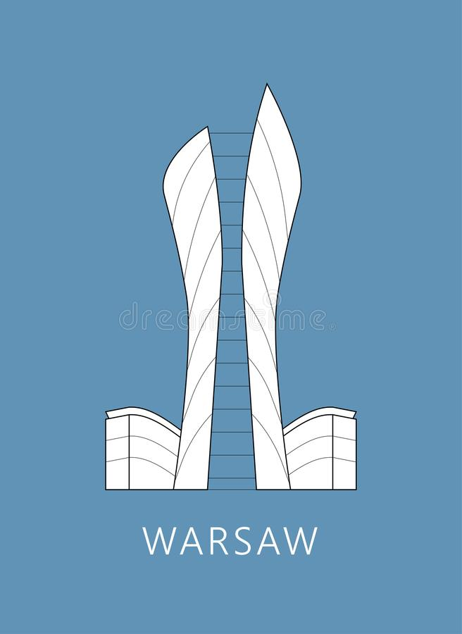 Warschau-Stadtbild stockfotos