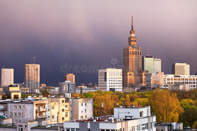 Warschau-Stadtbild stockfoto