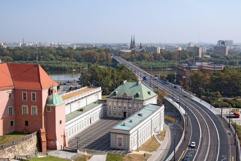 Warschau-und Vistula-Fluss. stockfoto