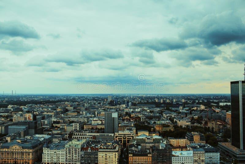 Warschau von oben lizenzfreie stockfotos