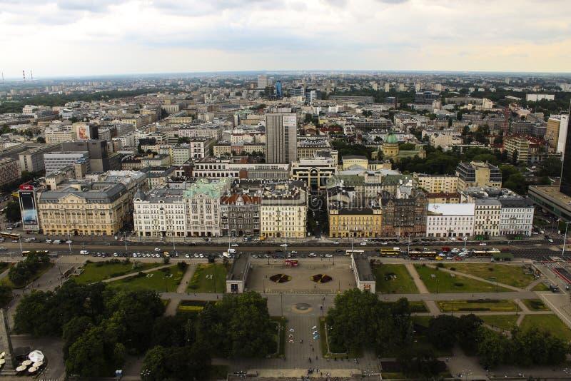 Warschau von oben stockbild