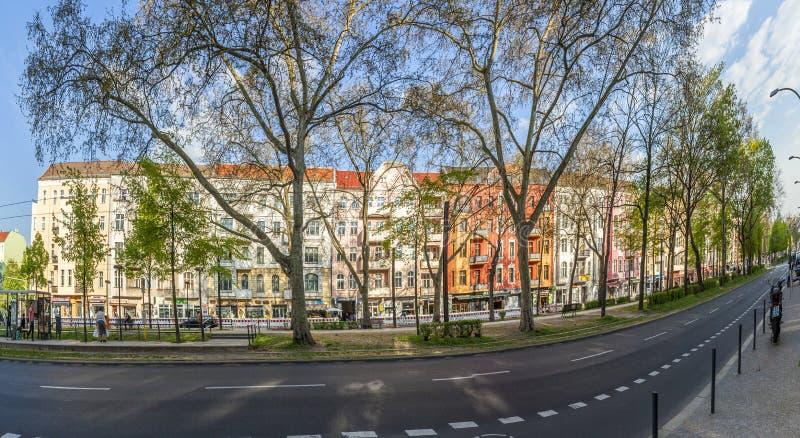 Warschauer Straße est une rue dans la localité de Friedrichshain de image libre de droits
