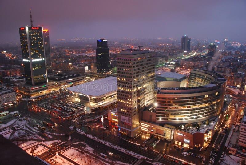 Warschaus Wolkenkratzer stockbild