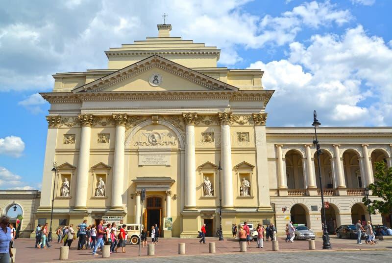 Warshau, Polen Academische kerk van Heilige Anne royalty-vrije stock foto