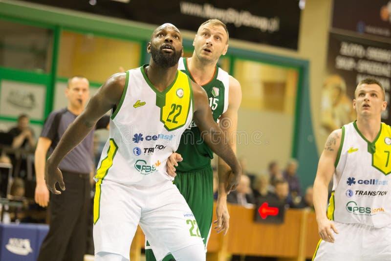 30 12 2017, Warshau, Polen, de Poolse Gelijke van de Basketbal Hoogste Liga: Miasto Szkla Krosno - Legia Warschau stock foto