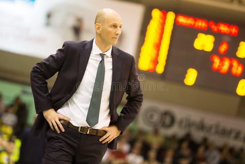 30 12 2017, Warshau, Polen, de Poolse Gelijke van de Basketbal Hoogste Liga: Miasto Szkla Krosno - Legia Warschau stock foto's