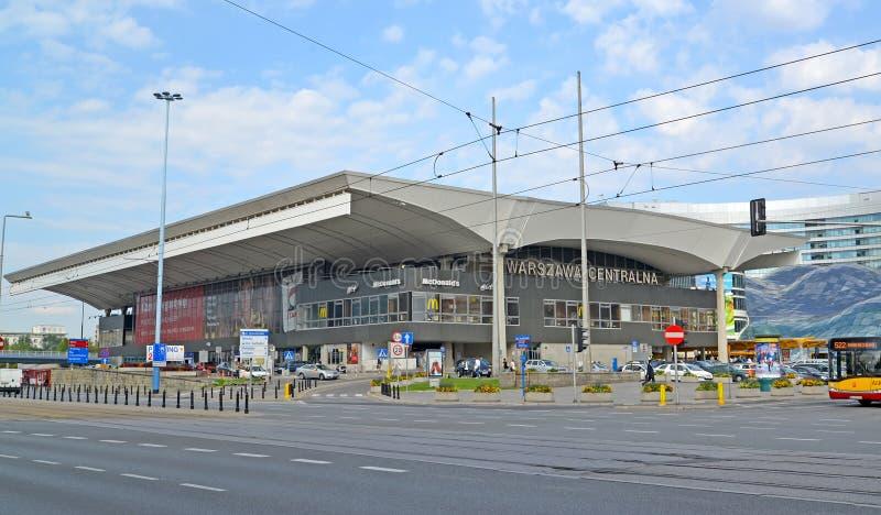 Warshau, Polen Warshau-Centraal station royalty-vrije stock fotografie
