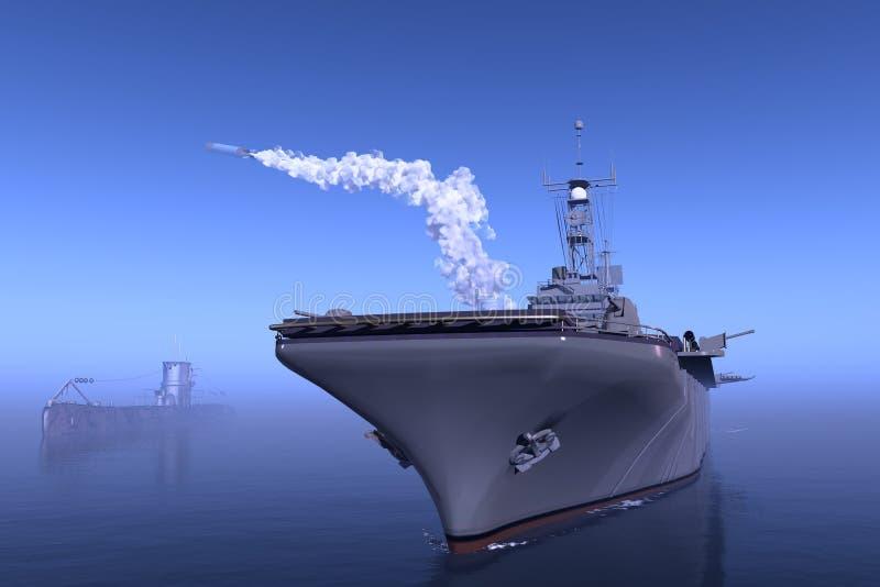 Download Warship stock illustration. Image of steel, defense, torpedo - 22330693
