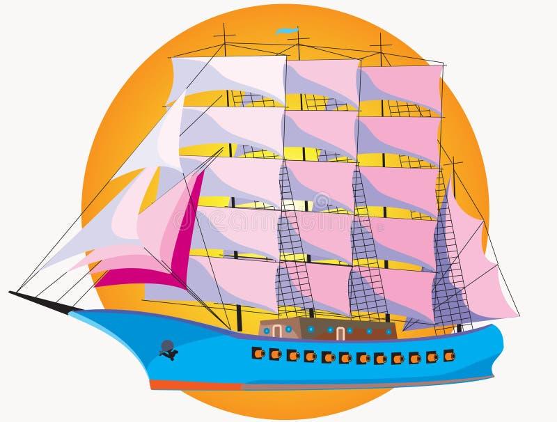 Warship With Sail Stock Photos